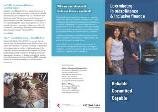 Luxembourg in microfinance & inclusive finance
