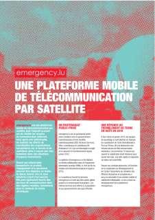 emergency.lu - une plateforme mobile de télécommunication par satellite