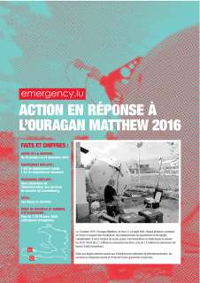 emergency.lu - action en réponse à l'ouragan Matthew 2016